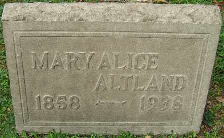 ALTLAND, MARY ALICE - Stark County, Ohio | MARY ALICE ALTLAND - Ohio Gravestone Photos