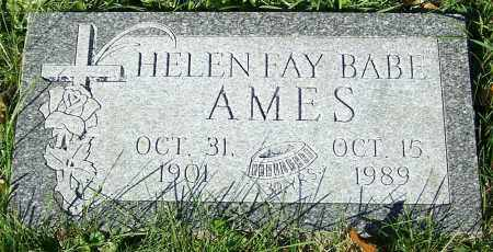 AMES, HELEN FAY BABE - Stark County, Ohio   HELEN FAY BABE AMES - Ohio Gravestone Photos