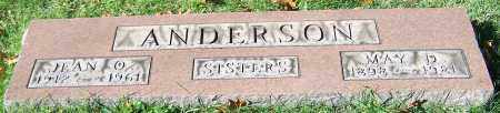ANDERSON, MAY D. - Stark County, Ohio | MAY D. ANDERSON - Ohio Gravestone Photos