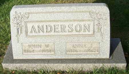 ANDERSON, JOHN W. - Stark County, Ohio | JOHN W. ANDERSON - Ohio Gravestone Photos