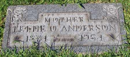 ANDERSON, LETTIE O. - Stark County, Ohio | LETTIE O. ANDERSON - Ohio Gravestone Photos