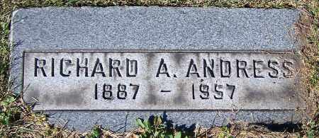 ANDRESS, RICHARD A. - Stark County, Ohio | RICHARD A. ANDRESS - Ohio Gravestone Photos