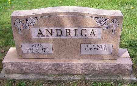 ANDRICA, JOHN - Stark County, Ohio | JOHN ANDRICA - Ohio Gravestone Photos