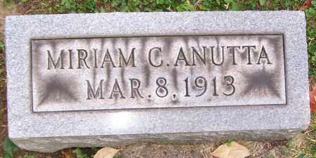 ANUTTA, MIRIAM C. - Stark County, Ohio | MIRIAM C. ANUTTA - Ohio Gravestone Photos