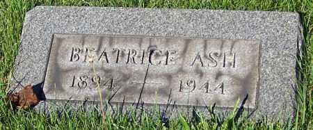 ASH, BEATRICE - Stark County, Ohio | BEATRICE ASH - Ohio Gravestone Photos