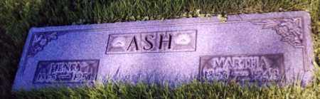 ASH, MARTHA - Stark County, Ohio | MARTHA ASH - Ohio Gravestone Photos
