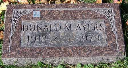 AYERS, DONALD M. - Stark County, Ohio | DONALD M. AYERS - Ohio Gravestone Photos