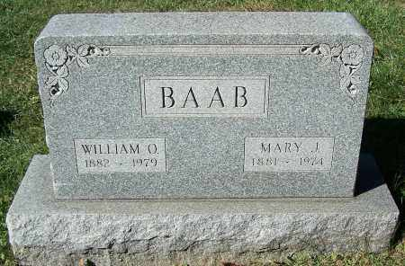 BAAB, MARY J. - Stark County, Ohio | MARY J. BAAB - Ohio Gravestone Photos