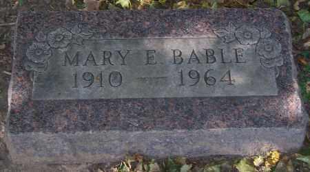 BABLE, MARY E. - Stark County, Ohio   MARY E. BABLE - Ohio Gravestone Photos