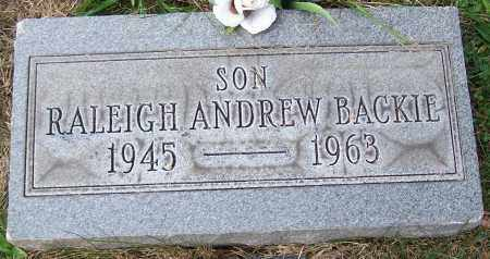 BACKIE, RALEIGH ANDREW - Stark County, Ohio | RALEIGH ANDREW BACKIE - Ohio Gravestone Photos