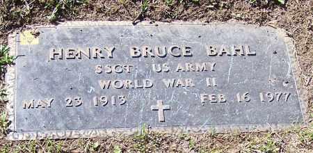 BAHL, HENRY BRUCE - Stark County, Ohio | HENRY BRUCE BAHL - Ohio Gravestone Photos