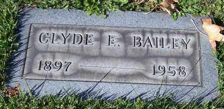 BAILEY, CLYDE E. - Stark County, Ohio | CLYDE E. BAILEY - Ohio Gravestone Photos