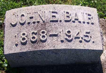 BAIR, JOHN E. - Stark County, Ohio | JOHN E. BAIR - Ohio Gravestone Photos