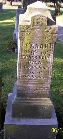 BAIR, SARAH - Stark County, Ohio | SARAH BAIR - Ohio Gravestone Photos