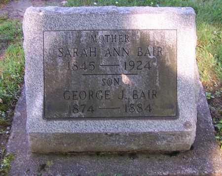 BAIR, SARAH ANN - Stark County, Ohio | SARAH ANN BAIR - Ohio Gravestone Photos