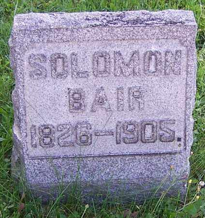 BAIR, SOLOMON - Stark County, Ohio | SOLOMON BAIR - Ohio Gravestone Photos