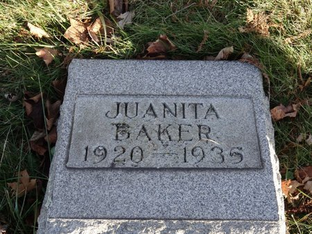 BAKER, JUANITA - Stark County, Ohio | JUANITA BAKER - Ohio Gravestone Photos