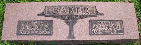 BAKER, JOSEPH F. - Stark County, Ohio | JOSEPH F. BAKER - Ohio Gravestone Photos