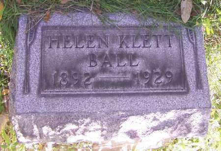 BALL, HELEN KLETT - Stark County, Ohio   HELEN KLETT BALL - Ohio Gravestone Photos