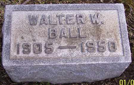BALL, WALTER W. - Stark County, Ohio   WALTER W. BALL - Ohio Gravestone Photos
