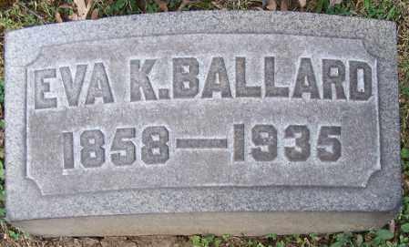BALLARD, EVA K. - Stark County, Ohio | EVA K. BALLARD - Ohio Gravestone Photos