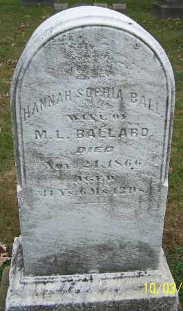 BALL BALLARD, HANNAH SOPHIA - Stark County, Ohio | HANNAH SOPHIA BALL BALLARD - Ohio Gravestone Photos