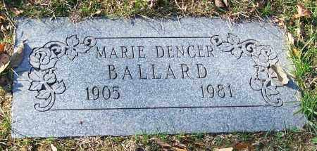 BALLARD, MARIE DENCER - Stark County, Ohio | MARIE DENCER BALLARD - Ohio Gravestone Photos