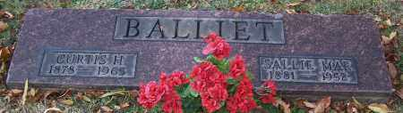 BALLIET, SALLIE MAE - Stark County, Ohio | SALLIE MAE BALLIET - Ohio Gravestone Photos