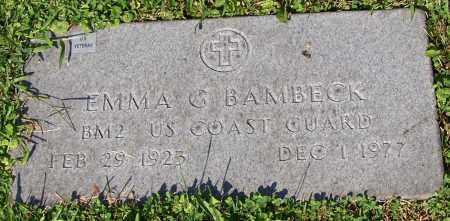 BAMBECK, EMMA G. - Stark County, Ohio | EMMA G. BAMBECK - Ohio Gravestone Photos