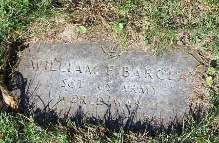 BARCLAY, WILLIAM E. - Stark County, Ohio | WILLIAM E. BARCLAY - Ohio Gravestone Photos