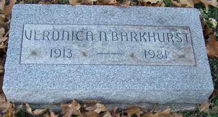 BARKHURST, VERONICA N. - Stark County, Ohio | VERONICA N. BARKHURST - Ohio Gravestone Photos