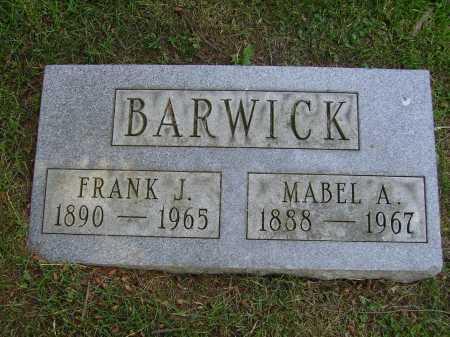 BARWICK, FRANK J. - Stark County, Ohio | FRANK J. BARWICK - Ohio Gravestone Photos