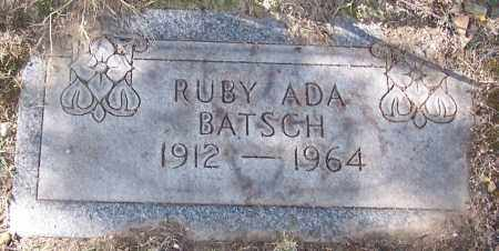 BATSCH, RUBY ADA - Stark County, Ohio | RUBY ADA BATSCH - Ohio Gravestone Photos