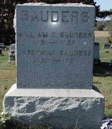 BAUDERS, WILLIAM B.. - Stark County, Ohio | WILLIAM B.. BAUDERS - Ohio Gravestone Photos
