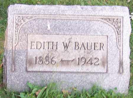 BAUER, EDITH W. - Stark County, Ohio | EDITH W. BAUER - Ohio Gravestone Photos