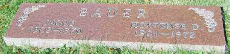 BAUER, HORTENSE D. - Stark County, Ohio | HORTENSE D. BAUER - Ohio Gravestone Photos