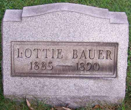 BAUER, LOTTIE - Stark County, Ohio | LOTTIE BAUER - Ohio Gravestone Photos