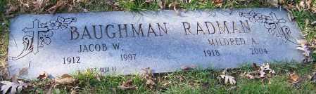 BAUGHMAN, JACOB W. - Stark County, Ohio   JACOB W. BAUGHMAN - Ohio Gravestone Photos