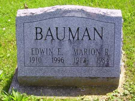 BAUMAN, EDWIN E. - Stark County, Ohio | EDWIN E. BAUMAN - Ohio Gravestone Photos
