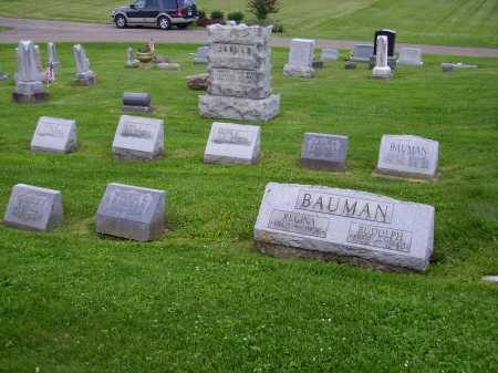 BAUMAN, FAMILY LOT - MONUMENTS - Stark County, Ohio | FAMILY LOT - MONUMENTS BAUMAN - Ohio Gravestone Photos