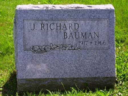 BAUMAN, J. RICHARD - Stark County, Ohio | J. RICHARD BAUMAN - Ohio Gravestone Photos