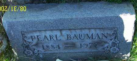 BAUMAN, PEARL - Stark County, Ohio | PEARL BAUMAN - Ohio Gravestone Photos