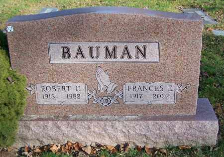 BAUMAN, FRANCES E. - Stark County, Ohio | FRANCES E. BAUMAN - Ohio Gravestone Photos