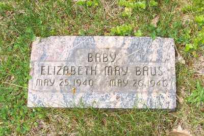 BAUS, ELIZABETH MAY - Stark County, Ohio | ELIZABETH MAY BAUS - Ohio Gravestone Photos