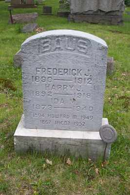 BAUS, JACOB - Stark County, Ohio | JACOB BAUS - Ohio Gravestone Photos