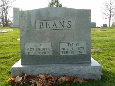 BEANS, J. F - Stark County, Ohio | J. F BEANS - Ohio Gravestone Photos