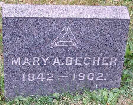 BECHER, MARY A. - Stark County, Ohio | MARY A. BECHER - Ohio Gravestone Photos