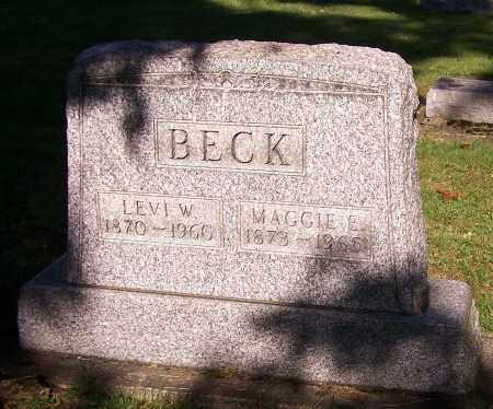 BECK, MAGGIE E. - Stark County, Ohio | MAGGIE E. BECK - Ohio Gravestone Photos
