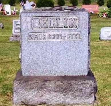 BEGLIN, SIMON - Stark County, Ohio | SIMON BEGLIN - Ohio Gravestone Photos