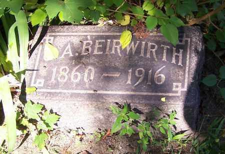 BEIRWIRTH, A. - Stark County, Ohio | A. BEIRWIRTH - Ohio Gravestone Photos